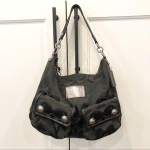 Coach Poppy Op Art Pocket Hobo Swing Bag